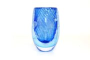 """16544. """"Kingfisher""""A unique double arial glass vase"""